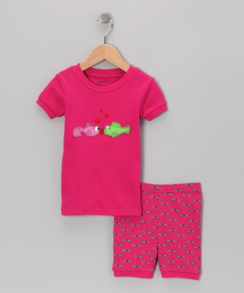 Magenta Kiss Pajama Set - Infant, Toddler & Kids
