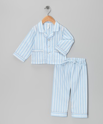 Blue Stripe Pajama Set - Infant & Toddler