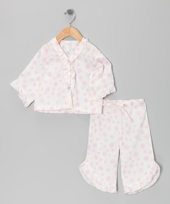 Pink Polka Dot Pajama Set - Infant & Toddler