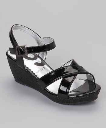Black Elite Wedge Sandal