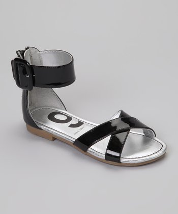 Black Patent Pattie Sandal