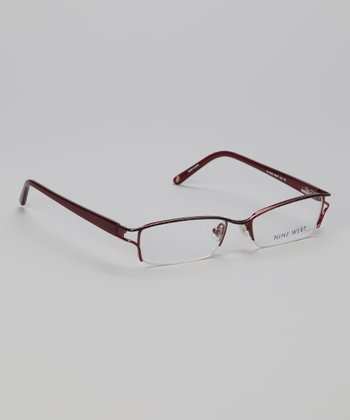 Red Half-Rim Glasses