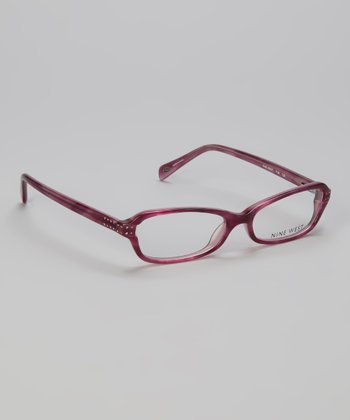 Black Plum Translucent Angle Glasses