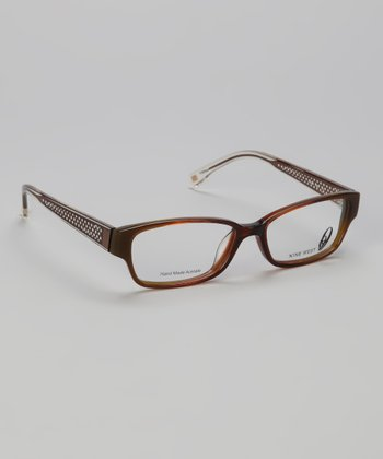Brown & Olive Rectangular Glasses