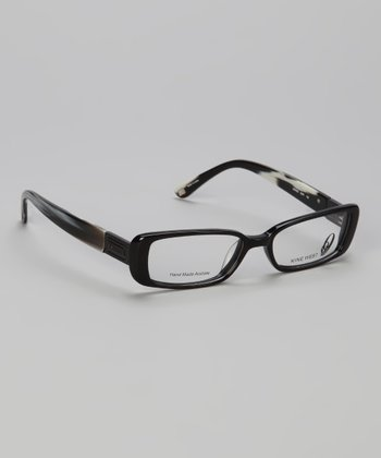 Black Chunky Rectangular Glasses