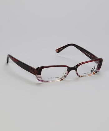 Fuchsia Striated Translucent Rectangular Glasses