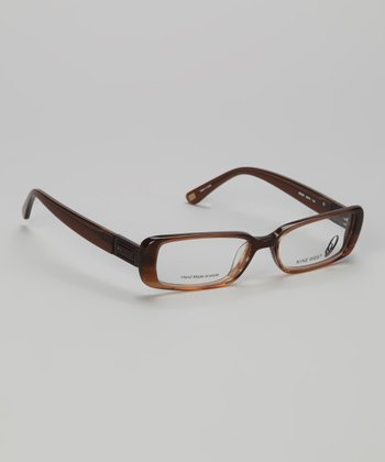 Brown Striated Rectangular Glasses