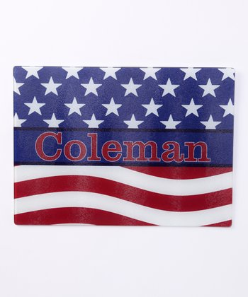 American Flag Personalized Cutting Board