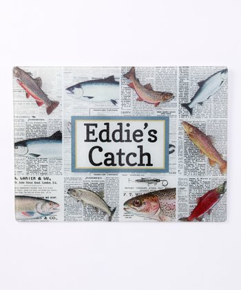 Fisherman's Catch Personalized Cutting Board
