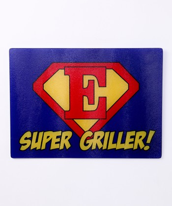 Blue & Red 'Super Griller' Initial Cutting Board