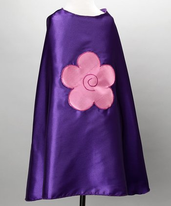 Purple & Bubble Gum Flower Cape