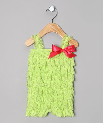 Lime Lace Romper - Infant & Toddler