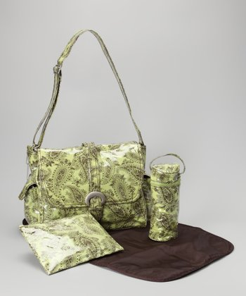 Kiwi Peggy Paisley Laminated Buckle Diaper Bag
