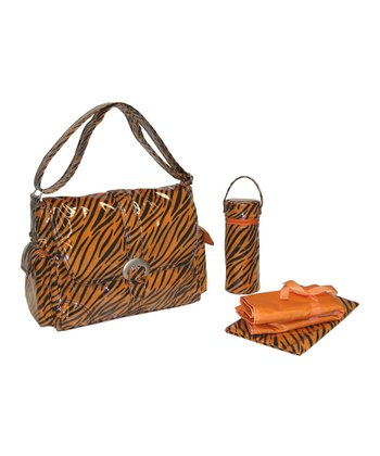 Orange Tiger Fur Diaper Bag