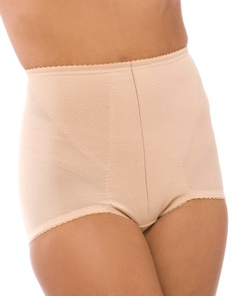 QT Intimates Beige Firm-Control High-Waisted Shaper Briefs