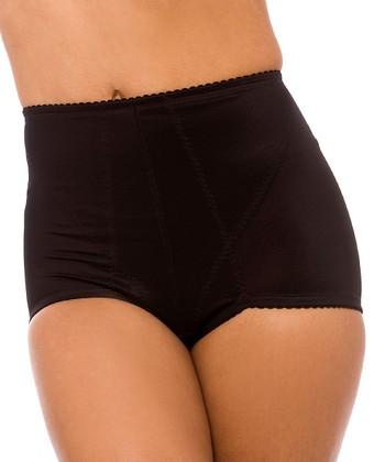 QT Intimates Black Firm-Control High-Waisted Shaper Briefs