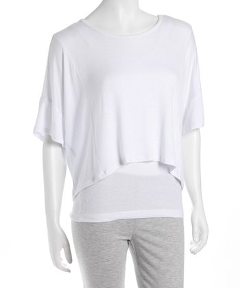 White Dolman Crop Top