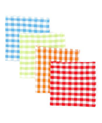 Summer Gingham Dishcloth Set