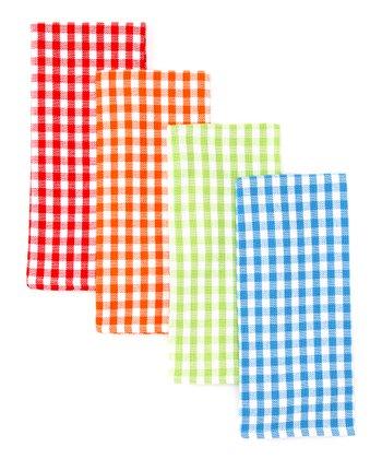 Summer Gingham Dish Towel Set