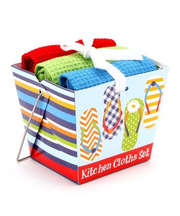 Flip-Flop Dishcloth Set