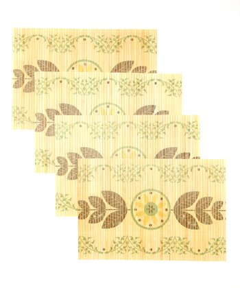 Flourish Bamboo Place Mat - Set of Four