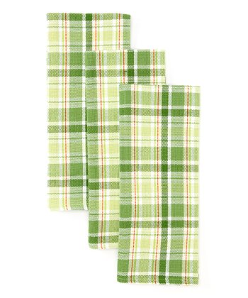 Garden Plaid Dish Towel - Set of Three
