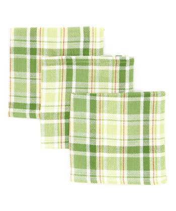 Garden Plaid Dishcloth - Set of Three