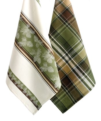 Pinecone Dish Towel Set