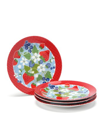 Summer Berry Plate - Set of Four
