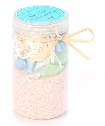 Beach Glass Sand & Shells Sea Gem Set
