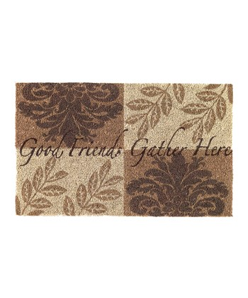 'Good Friends Gather Here' Doormat