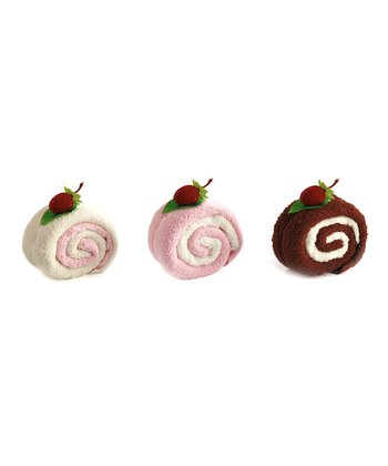Swirl Cake Roll Dishcloth Set