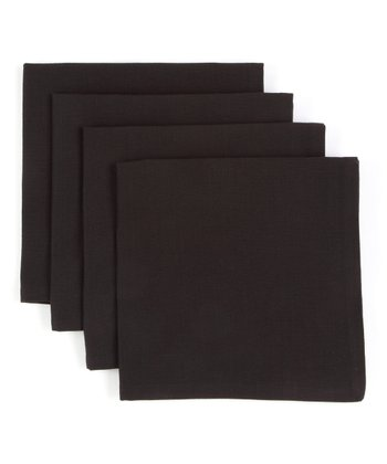 Black Napkin - Set of Four