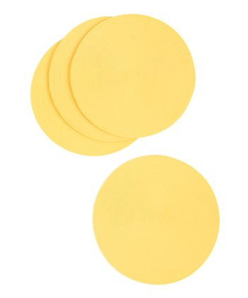 Yellow Snapdragon Place Mat - Set of Four