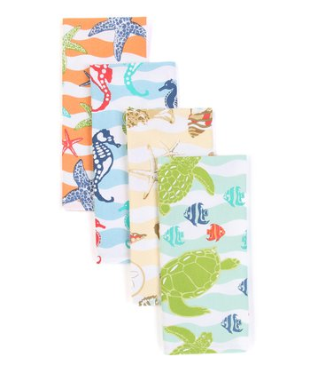 Seaside Wave Dish Towel Set