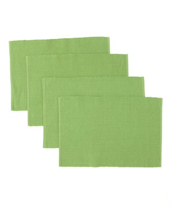 Green Garden Shamrock Place Mat - Set of Four