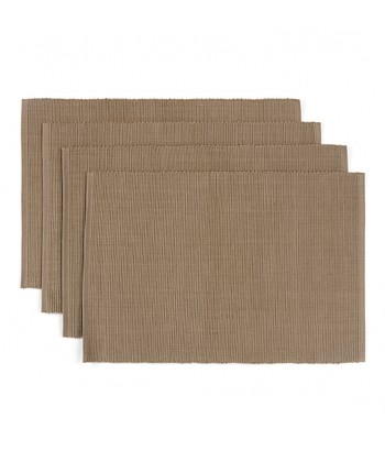 Taupe Fleur-de-Lis French Place Mat - Set of Four