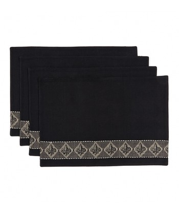 Fleur-de-Lis Jacquard Place Mat - Set of Four