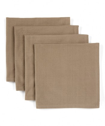 Taupe Fleur-de-Lis French Napkin - Set of Four