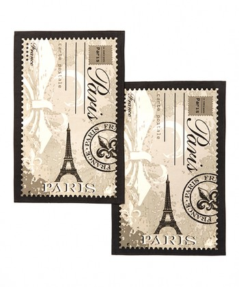 'Paris' Fleur-de-Lis Dish Towel - Set of Two
