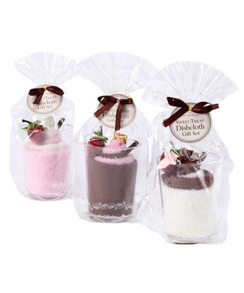 Ice Cream Sundae Dishcloth Set