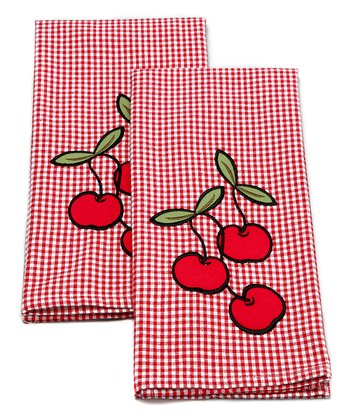 Cherry Dish Towel - Set of Two