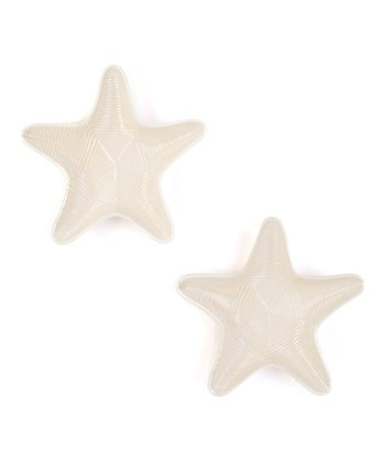 Ivory Starfish Plate - Set of Two