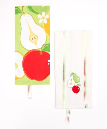 Apple Dish Towel Set