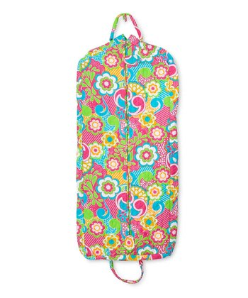 Pink Juicy Burst Quilted Garment Bag