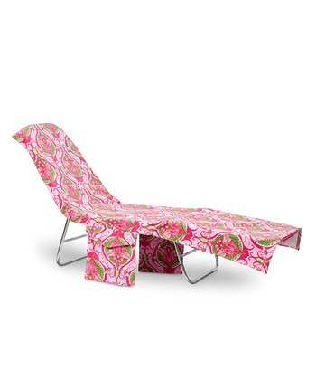 Pink Victoria Lounge Chair Cover