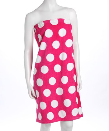 Pink Polka Dot Spa Wrap