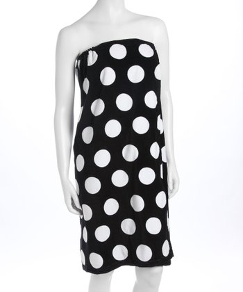 Black Polka Dot Spa Wrap
