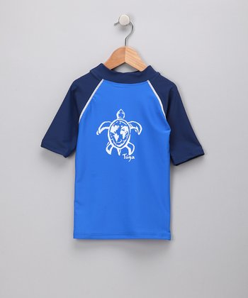 Blue Plangea Turtle Rashguard - Infant, Toddler & Boys