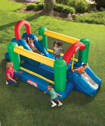 Jump & Double Slide Bounce House Set